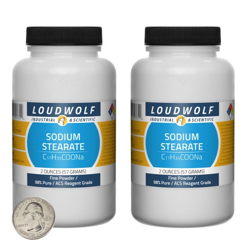 Sodium Stearate - 4 Ounces in 2 Bottles