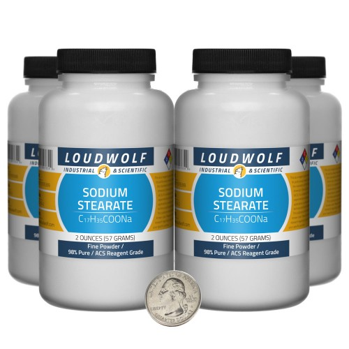 Sodium Stearate - 8 Ounces in 4 Bottles