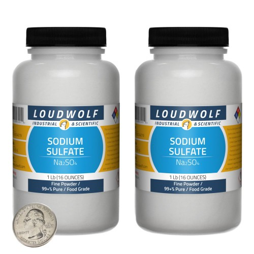 Sodium Sulfate - 2 Pounds in 2 Bottles