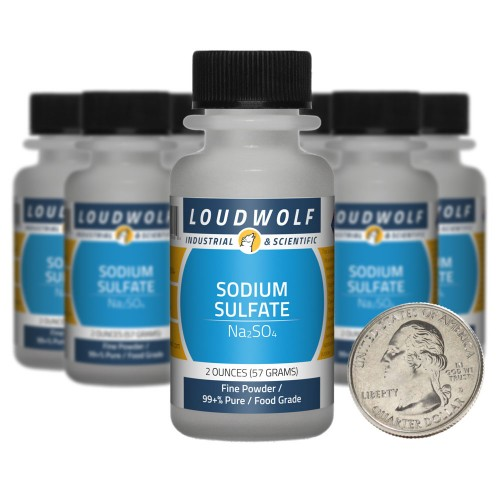 Sodium Sulfate - 1.3 Pounds in 10 Bottles