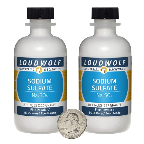 Sodium Sulfate - 1 Pound in 2 Bottles
