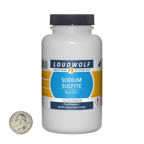 Sodium Sulfite - 1 Pound in 1 Bottle
