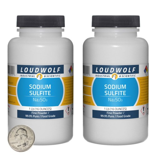 Sodium Sulfite - 2 Pounds in 2 Bottles