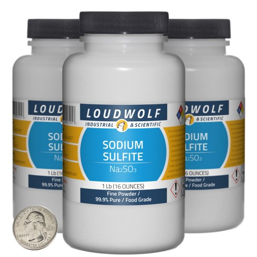 Sodium Sulfite - 3 Pounds in 3 Bottles