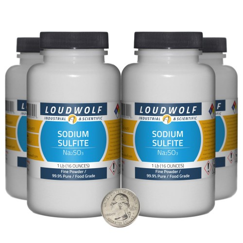 Sodium Sulfite - 4 Pounds in 4 Bottles