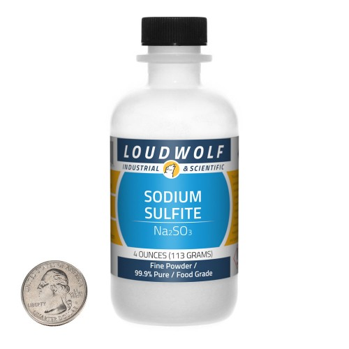 Sodium Sulfite - 4 Ounces in 1 Bottle