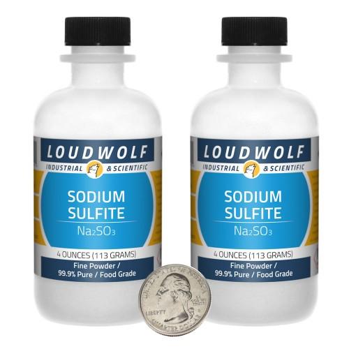 Sodium Sulfite - 8 Ounces in 2 Bottles