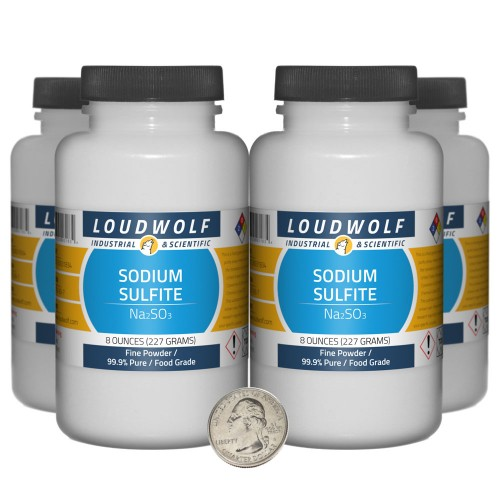 Sodium Sulfite - 2 Pounds in 4 Bottles