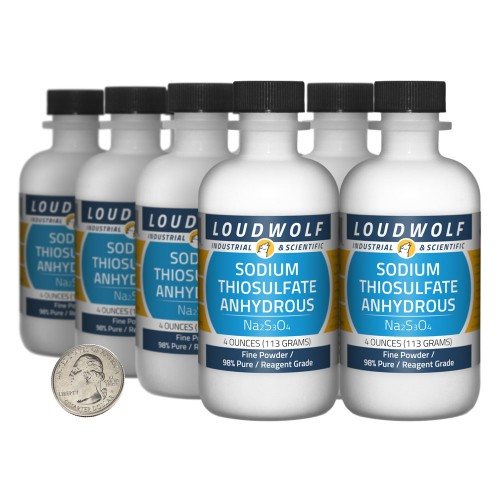 Sodium Thiosulfate Anhydrous - 2 Pounds in 8 Bottles