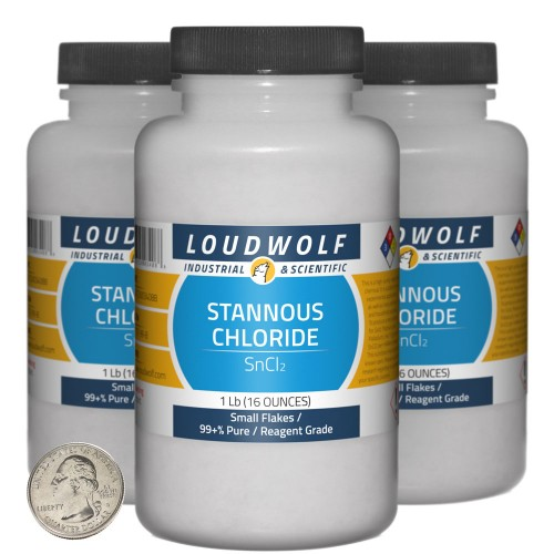 Stannous Chloride - 3 Pounds in 3 Bottles