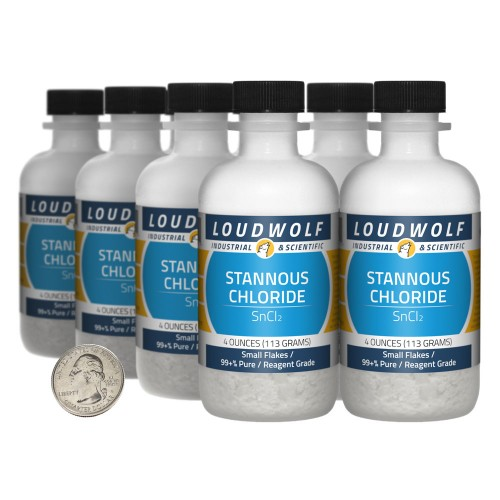 Stannous Chloride - 2 Pounds in 8 Bottles