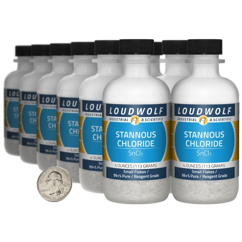 Stannous Chloride - 3 Pounds in 12 Bottles