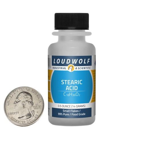 Stearic Acid - 0.5 Ounces in 1 Bottle