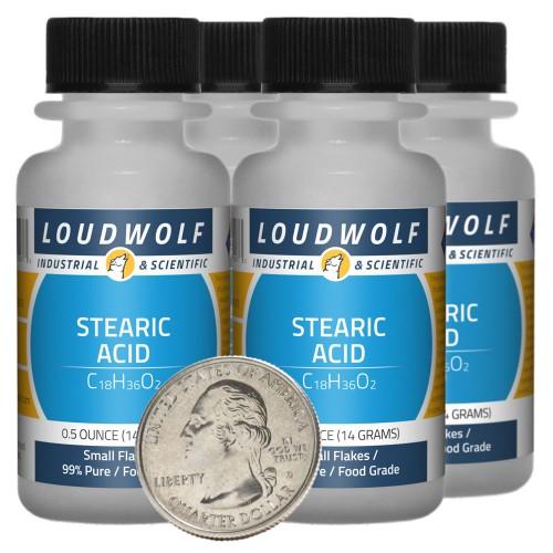 Stearic Acid - 2 Ounces in 4 Bottles