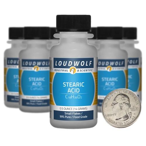 Stearic Acid - 5 Ounces in 10 Bottles
