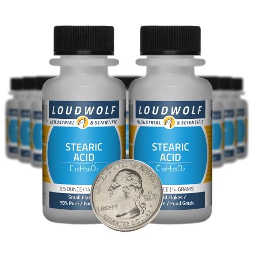 Stearic Acid - 10 Ounces in 20 Bottles