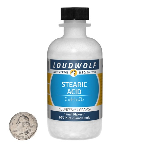 Stearic Acid - 2 Ounces in 1 Bottle