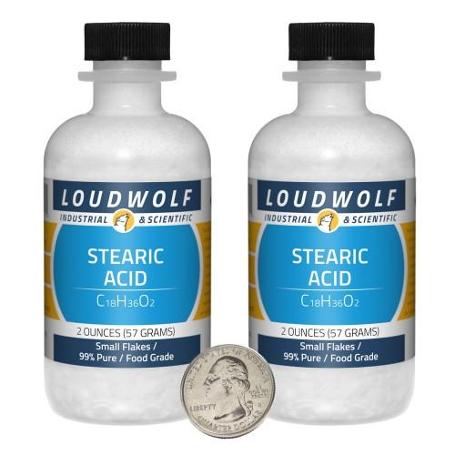 Stearic Acid - 4 Ounces in 2 Bottles