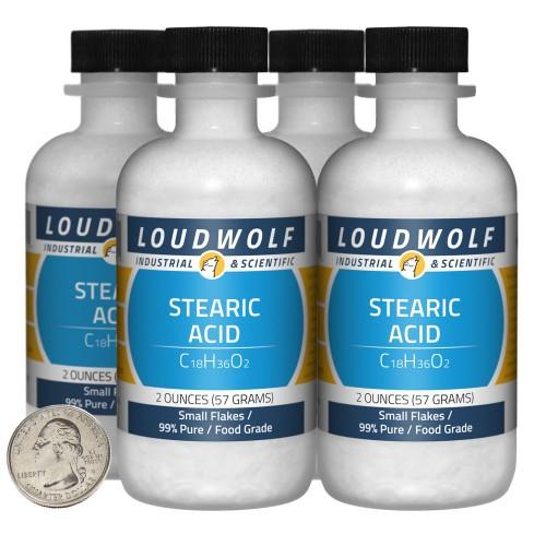 Stearic Acid - 8 Ounces in 4 Bottles