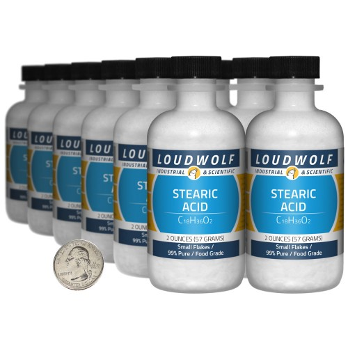 Stearic Acid - 1.5 Pounds in 12 Bottles