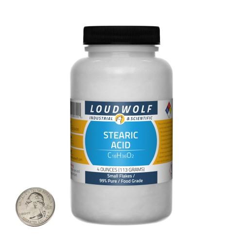 Stearic Acid - 4 Ounces in 1 Bottle