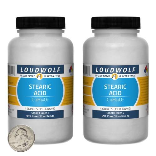 Stearic Acid - 8 Ounces in 2 Bottles