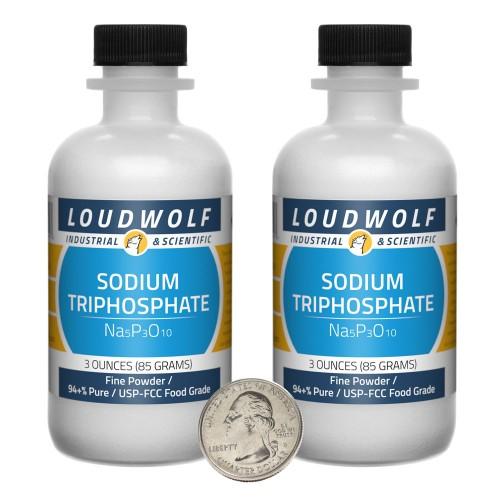 Sodium Triphosphate - 6 Ounces in 2 Bottles