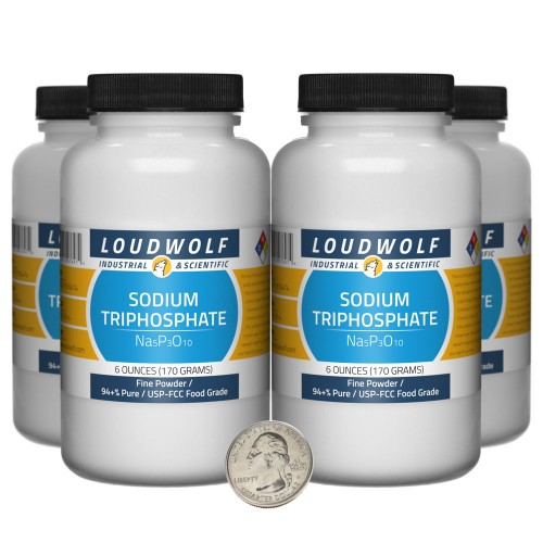 Sodium Triphosphate - 1.5 Pounds in 4 Bottles
