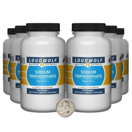 Sodium Triphosphate - 2.3 Pounds in 6 Bottles