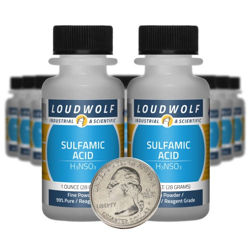 Sulfamic Acid  - 1.3 Pounds in 20 Bottles