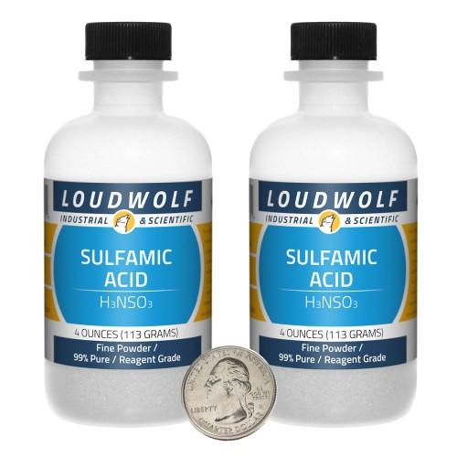 Sulfamic Acid  - 8 Ounces in 2 Bottles