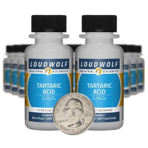 Tartaric Acid - 1.3 Pounds in 20 Bottles