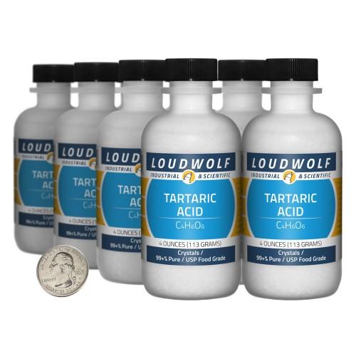 Tartaric Acid - 2 Pounds in 8 Bottles