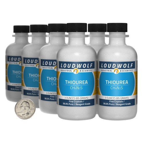 Thiourea - 1.5 Pounds in 8 Bottles