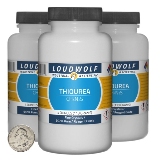 Thiourea - 12 Ounces in 3 Bottles