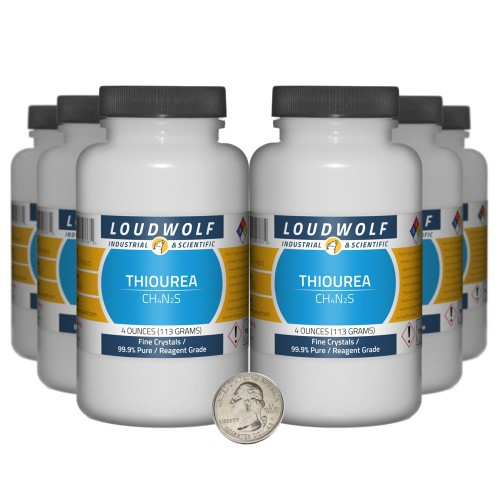 Thiourea - 1.5 Pounds in 6 Bottles