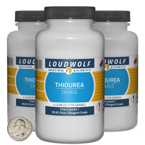 Thiourea - 1.1 Pounds in 3 Bottles