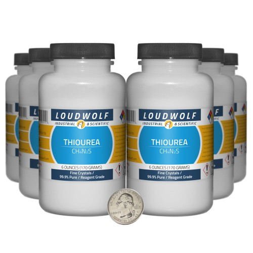 Thiourea - 2.3 Pounds in 6 Bottles