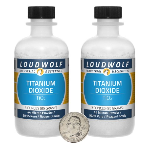 Titanium Dioxide - 6 Ounces in 2 Bottles