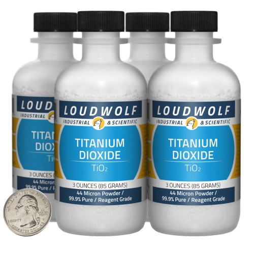 Titanium Dioxide - 12 Ounces in 4 Bottles