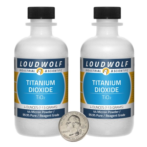 Titanium Dioxide - 8 Ounces in 2 Bottles