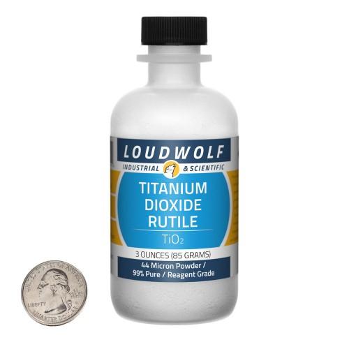 Titanium Dioxide Rutile - 3 Ounces in 1 Bottle