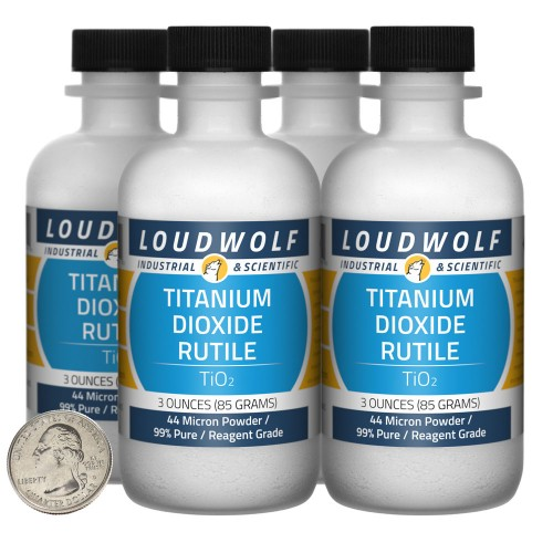 Titanium Dioxide Rutile - 12 Ounces in 4 Bottles