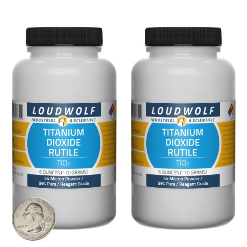 Titanium Dioxide Rutile - 12 Ounces in 2 Bottles