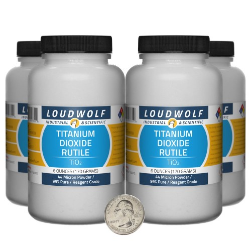 Titanium Dioxide Rutile - 1.5 Pounds in 4 Bottles