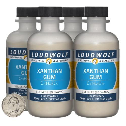 Xanthan Gum - 12 Ounces in 4 Bottles