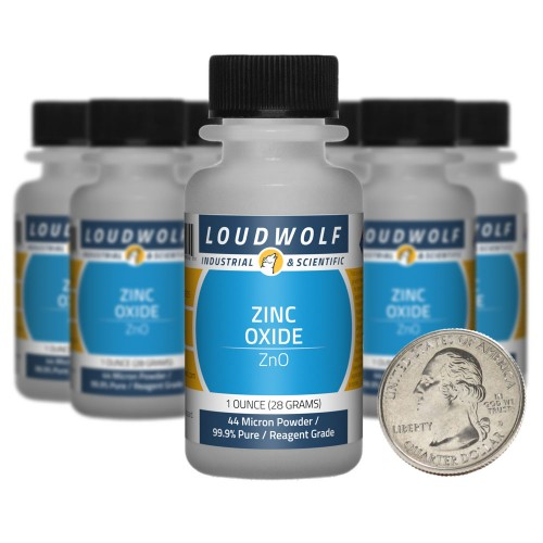 Zinc Oxide - 10 Ounces in 10 Bottles