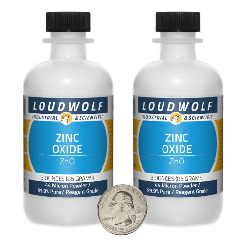 Zinc Oxide - 6 Ounces in 2 Bottles