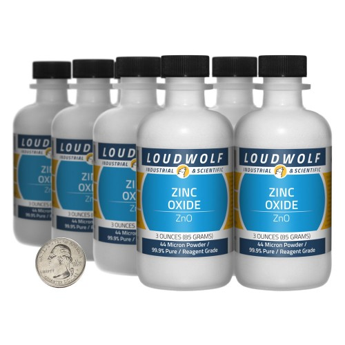 Zinc Oxide - 1.5 Pounds in 8 Bottles