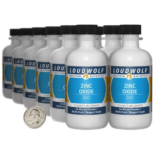Zinc Oxide - 2.3 Pounds in 12 Bottles